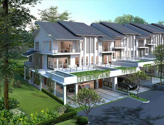 New 3 sty terrace link house for sale at serissa terrace for New terrace house